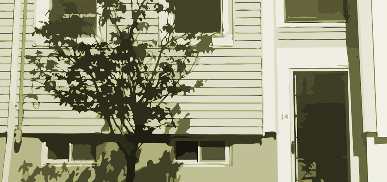 A picture of a nice row house.