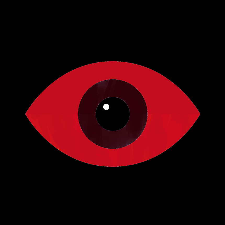 A dark and bloodied eye.